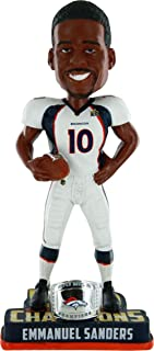FOCO NFL Denver Broncos Emmanuel Sanders #10 Super Bowl 50 Champions Bobble Head Toy, One Size, White