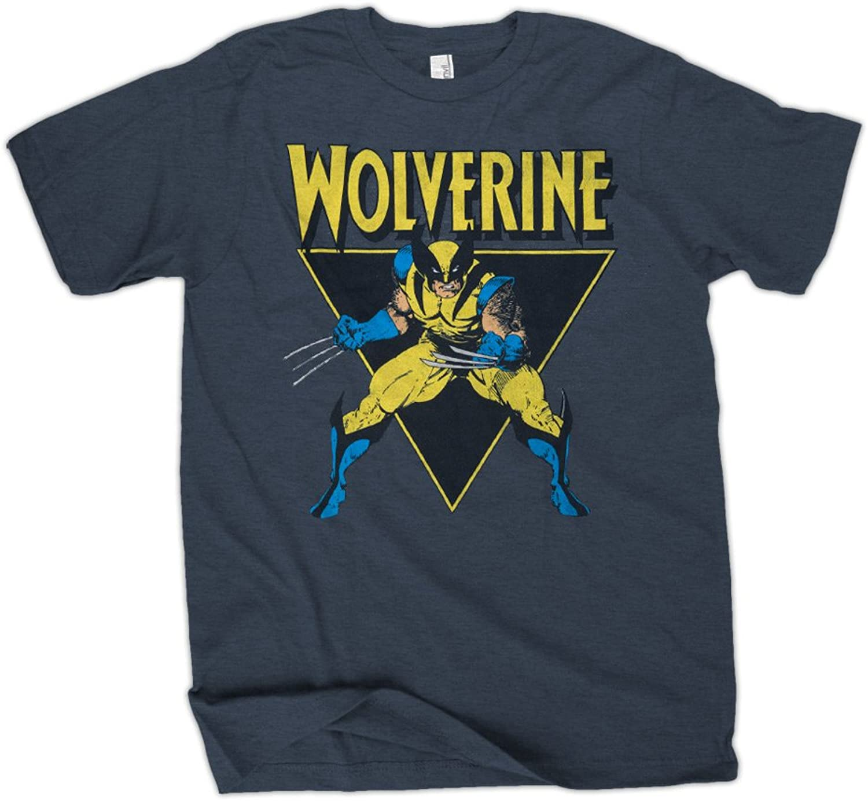 Marvel Wolverine Angle Mens bluee TShirt