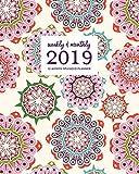 Weekly & Monthly 2019 12-Month Splendid Planner: Colorful Boho Mandala Dated Agenda Book, January - December 2019
