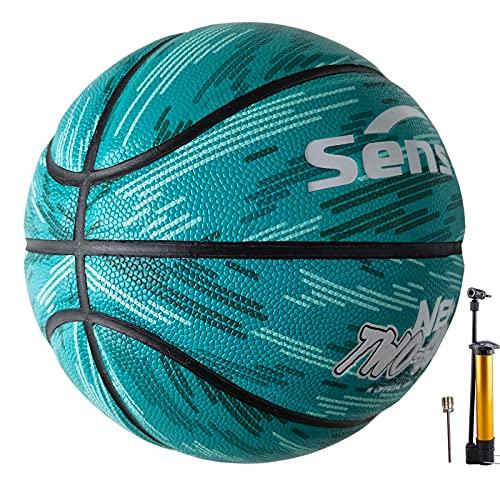 Senston Basketball X-Crossing Training Basketbälle Größe 7 Indoor/Outdoor mit Inflator