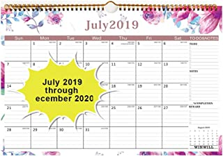 2019 Calendar - 18 Months Wall Calendar 2019-2020 Family Academic Calendar,Thick Paper Perfect for Organizing & Planning 15×10 inch