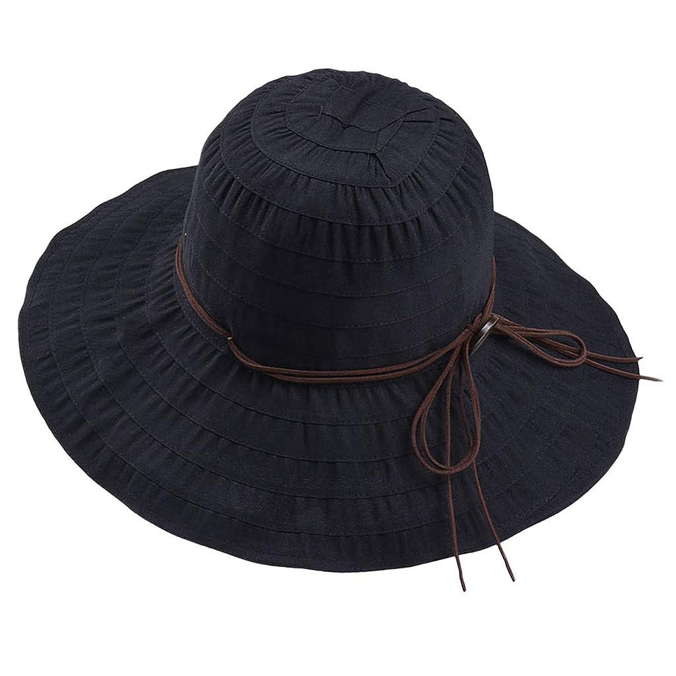 純粋なキャプテンブライ時々UVカット 帽子 レディース ROSE ROMAN UV 100% カット つば広 漁師帽 夏 UVカット 帽子 ビーチ 紫外線対策 日焼け防止 日焼け 旅行用 日よけ 小顔効果 折りたたみ 海 旅行 ハットストレッチャー 帽子 ハンガー