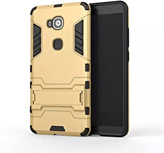 Huawei Ascend G7 Plus Case,Gift_Source [Dual Layer Design] 2 in 1 Shockproof Hybrid Soft TPU and Hard PC Rugged Protective Case with Built-in Kickstand for Huawei Ascend G8 / G7 Plus [Gold]