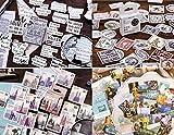 4 scatole francobollo Adesivi in diversi stili(180 Pz)per Scrapbooking Stickers Biglietti d'auguri Regali Diario Album Fai da Te Libri a Mano Calendari Decorazione(Non un vero francobollo)