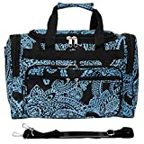 World Traveler 81T16-642 Duffle Bag, One Size, Black Blue Paisley