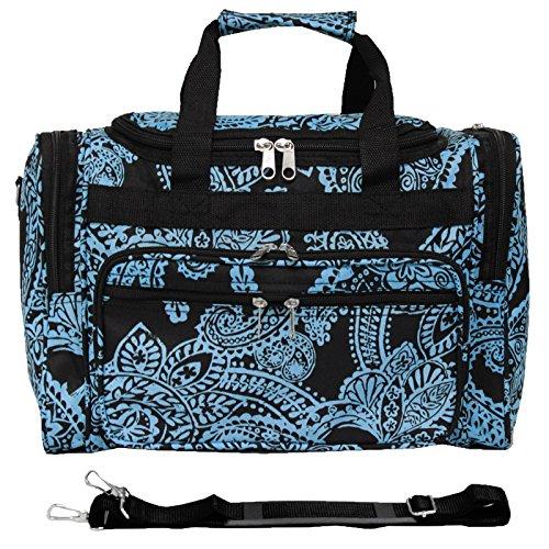 World Traveler 81T16-642  Duffle Bag, One Size, Black Blue Paisley