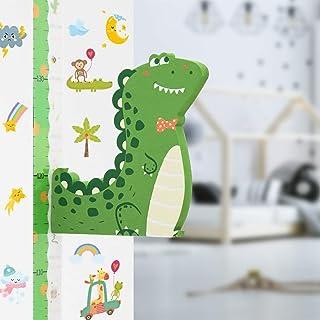 Tableau de Hauteur, Tableau de Croissance 3D Dinosaure Règle de Hauteur de bébé, Règle murale Amovible pour Enfants Garçon...