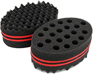 Afro Hair Sponge Twists Barber Hair Styling Tool with Big Holes for Natural Twists Curls Coils Dreads by OSMOFUZE