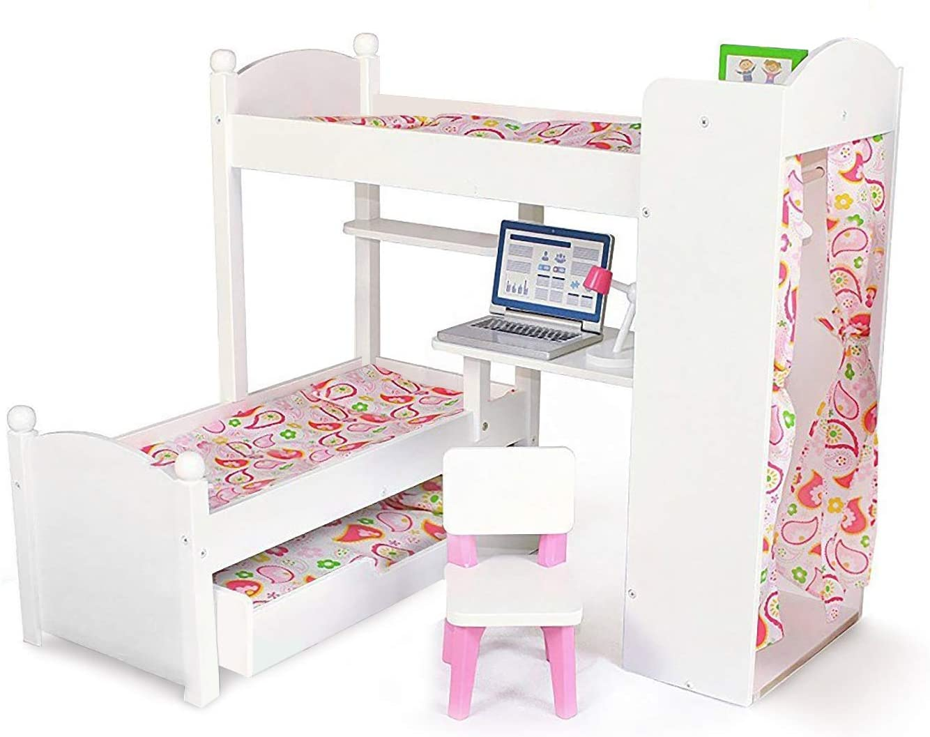 NEW before selling ☆ Playtime by Eimmie Bunk Bed and Trundle 18 Wholesale Set Bu Doll Inch