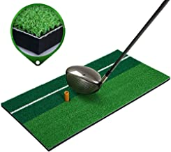 TOPYL Alfombra De Golf,Residencial Esterilla De Práctica De Golf con Camiseta,Portátil Putting De Chipping De Conducción Ayudas A La Paramación para Casa Patio Trasero Al Aire Libre Verde 60x30cm