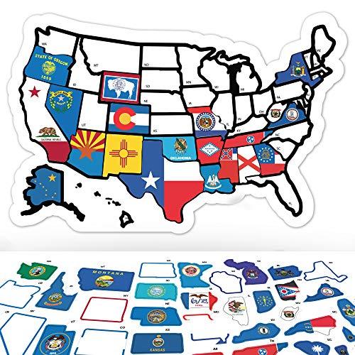 USA State Sticker Map