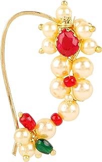 N320ON Sri Shringarr Fashion Traditional Micro Gold Polished Nath Polki//Kundan