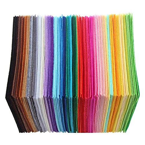 UEB 40pcs Feltro Colorato Cucito Bricolage Feltro da Cucire DIY Mestiere Stoffa di Cucito Tessuto Patchwork 10X10cm