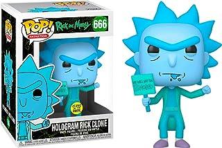 Funko Pop Animation: Rick & Morty - Hologram Rick Protestor (GW) (Exc), Multi-Colour, FU44254