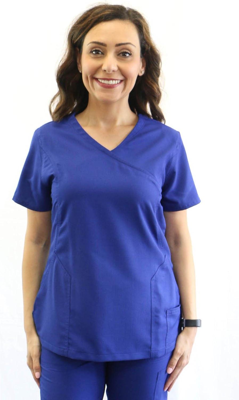 UniMD Women's Medical Scrub Top Mock wrap