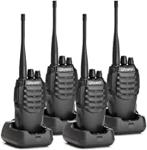 Olywiz HTD826 Walkie Talkies Long Range Up to 6 Miles Two-Way Radios Rechargeable 1800mAH Battery(Ultra-Long Standby) Loud&Clear 16CH UHF Professional Portable Security&Business 2 Way Radio 4Pack