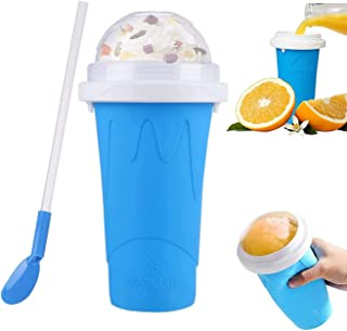 DIY Slushie Maker Cup, TIK TOK Magic Quick Frozen Smoothies Cup, Double Layer Summer Magic Cup Portable Squeeze Juice Icy ...