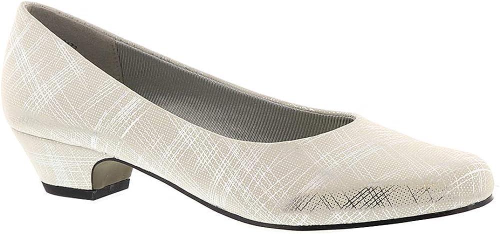 Easy Street Selling rankings Womens Halo Metallic Cushioned Dress Mail order Pumps 6 White N