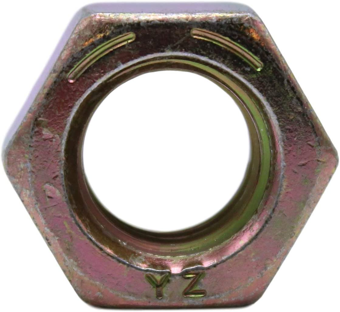 U-Turn 3//4-16 Grade 8 Hex Nut SAE J995 5 Count Zinc Yellow Plated