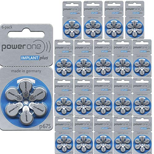 Power One Cochlear Implant Batteries (120 Batteries)