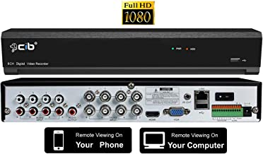 CIB Hybrid TVI/AHD/IP/Analog 8CH Full HD 1080P Digital Video Recorder with 2TB HDD, Plus Supports 4CH HD 4K/5M CIB Network IP Camera Connection, Total Up to 12CH. HDMI/VGA Video Output - T80P08K2T