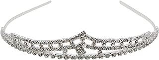 Rosemarie Collections Women's Bridal Crystal Rhinestone Crown Tiara Headband