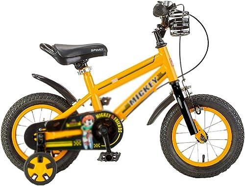 Kinderfürr r fürrad im Freien Studentenfürrad Jungenmädchenfürrad Auto im Freien Kinderlernauto, Rahmen aus Kohlenstoffstahl (Farbe   Gelb, Größe   16inches)