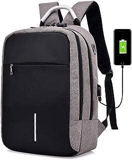 Dengyujiaasj Backpack, 15.6-inch Laptop Shoulder Bag Anti-theft USB Charging Multi-compartment Backpack Schoolbag. (Color...