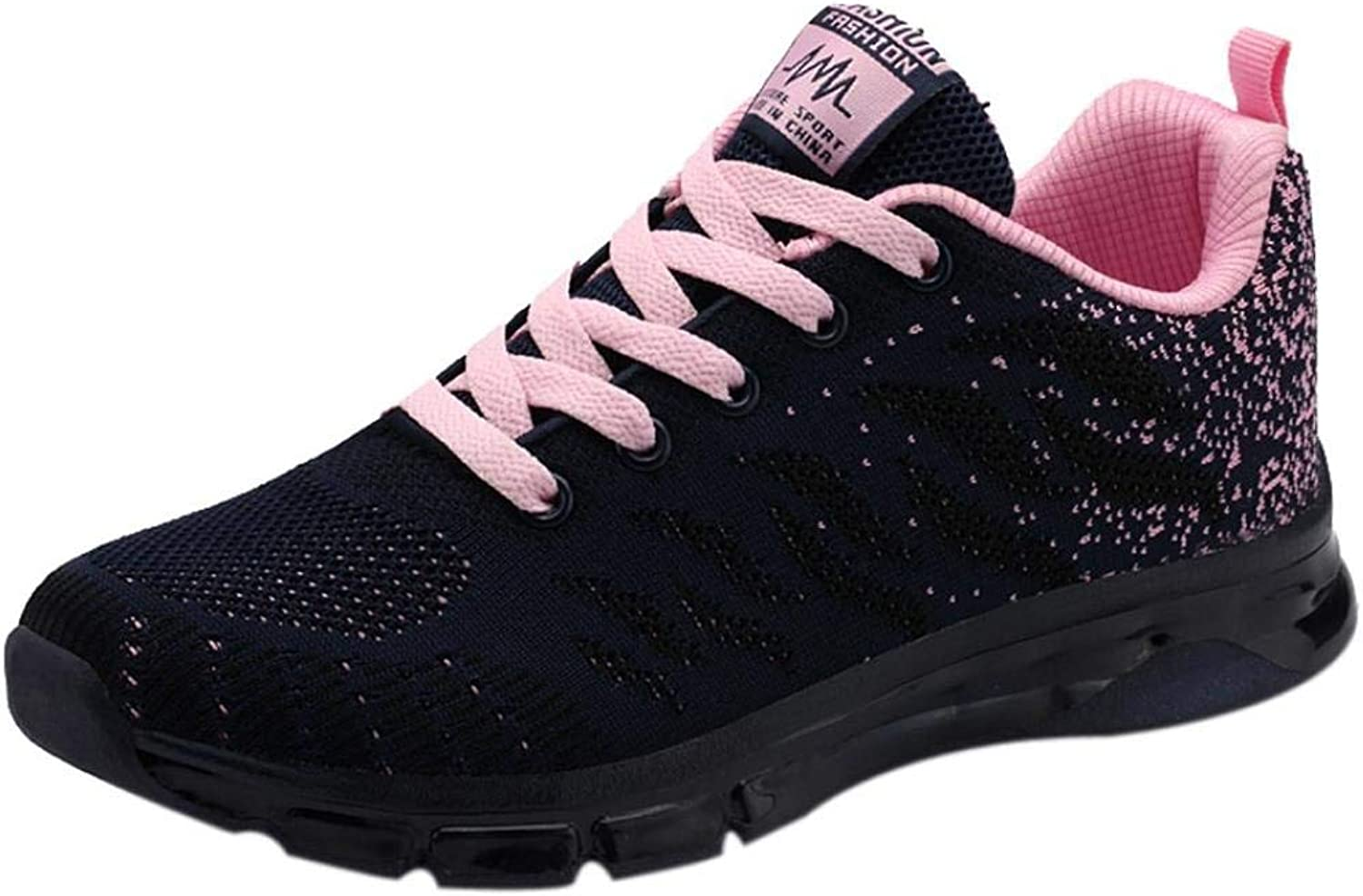 JaHGDU Flying Woven shoes Sport Air Cushion Sneakers Student Net Running shoes Fashion Leisure Soft Wild Tight Super Quality for Womens