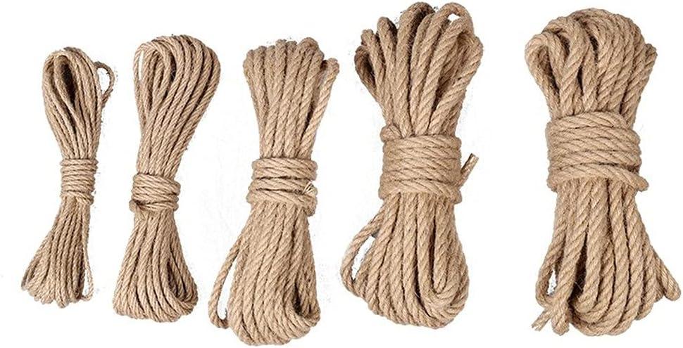 para el hogar y decoraci/ón Cuerda de c/á/ñamo de 10 m 4 mm 6 mm 12 mm cuerda de c/á/ñamo para manualidades cuerda de c/á/ñamo natural 4 mm cuerda de yute 8 mm 10 mm