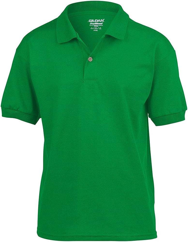 Gildan DryBlend Youth Comfort DryBlend Wicking Polo Shirt, Irish Green, X-Large
