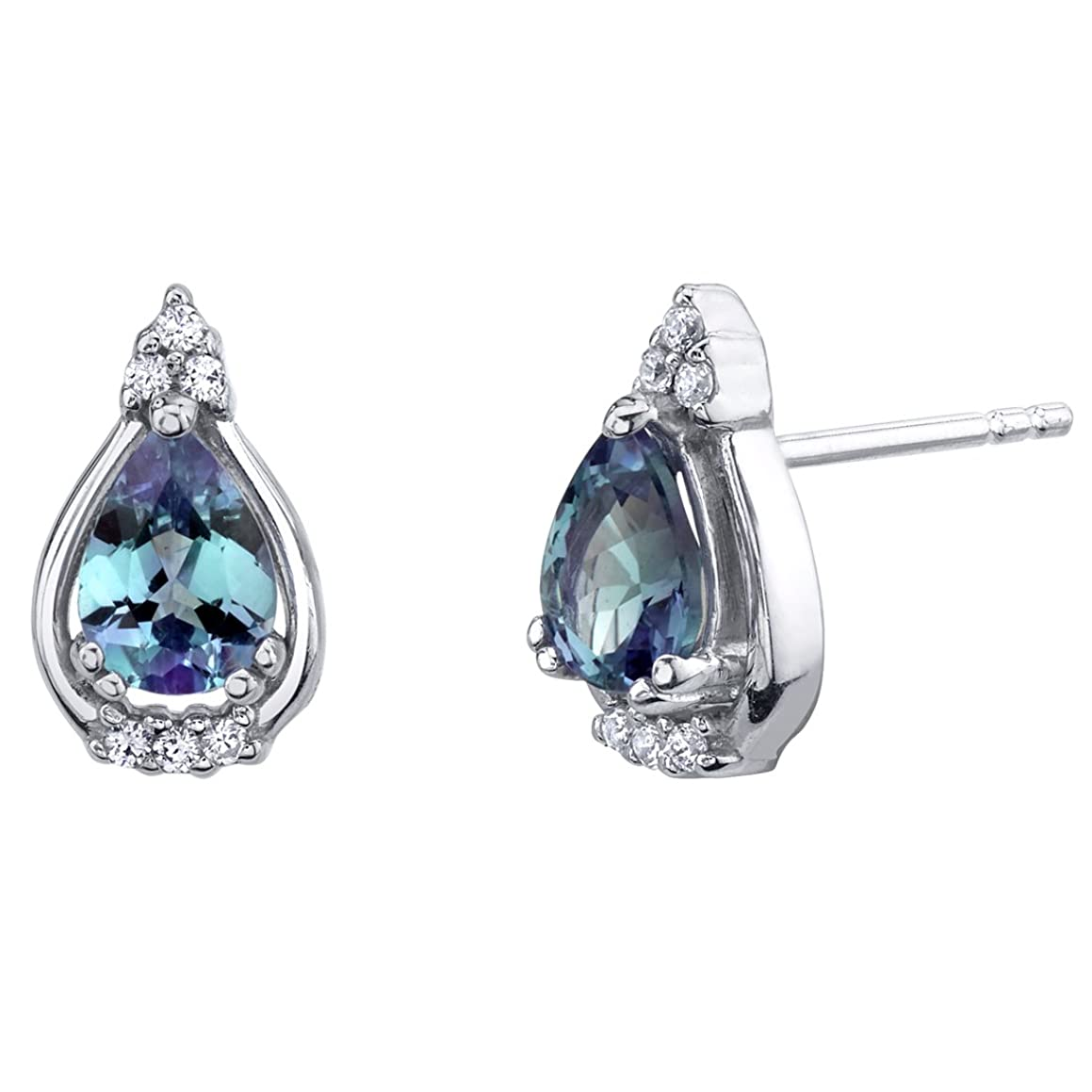 Sterling Silver Empress Stud Earrings in Various Gemstones