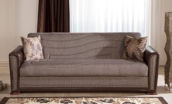 Istikbal Alfa Sofa Bed In Redeyef Brown