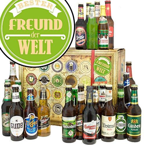 Bester Freund/Bier Set Welt und DE/Geschenk Ideen Freund/Bier Adventskalender 2019