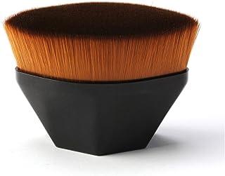 Tenmon Petal-Shaped Foundation Brush, Foundation Makeup Brush, Suitable for Mixed Liquid, Cream or Flawless Powder Cosmetics, Multifunctional Makeup Brush, 2 Colors (Black)