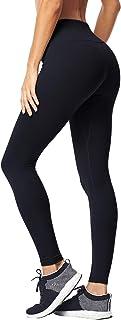 Matymats Women's Tummy Control Yoga Leggings High Waist Non See Through Running Workout Pants Pockets