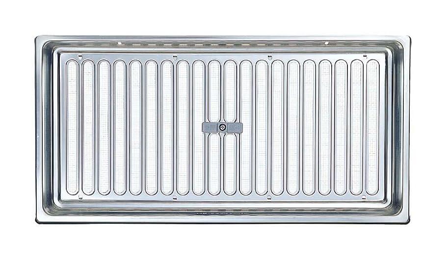 うまくいけば判定ステープル宇佐美工業 ステンレス製 床下換気口 蘭ボックス スライド式 UK-YRS2040SM