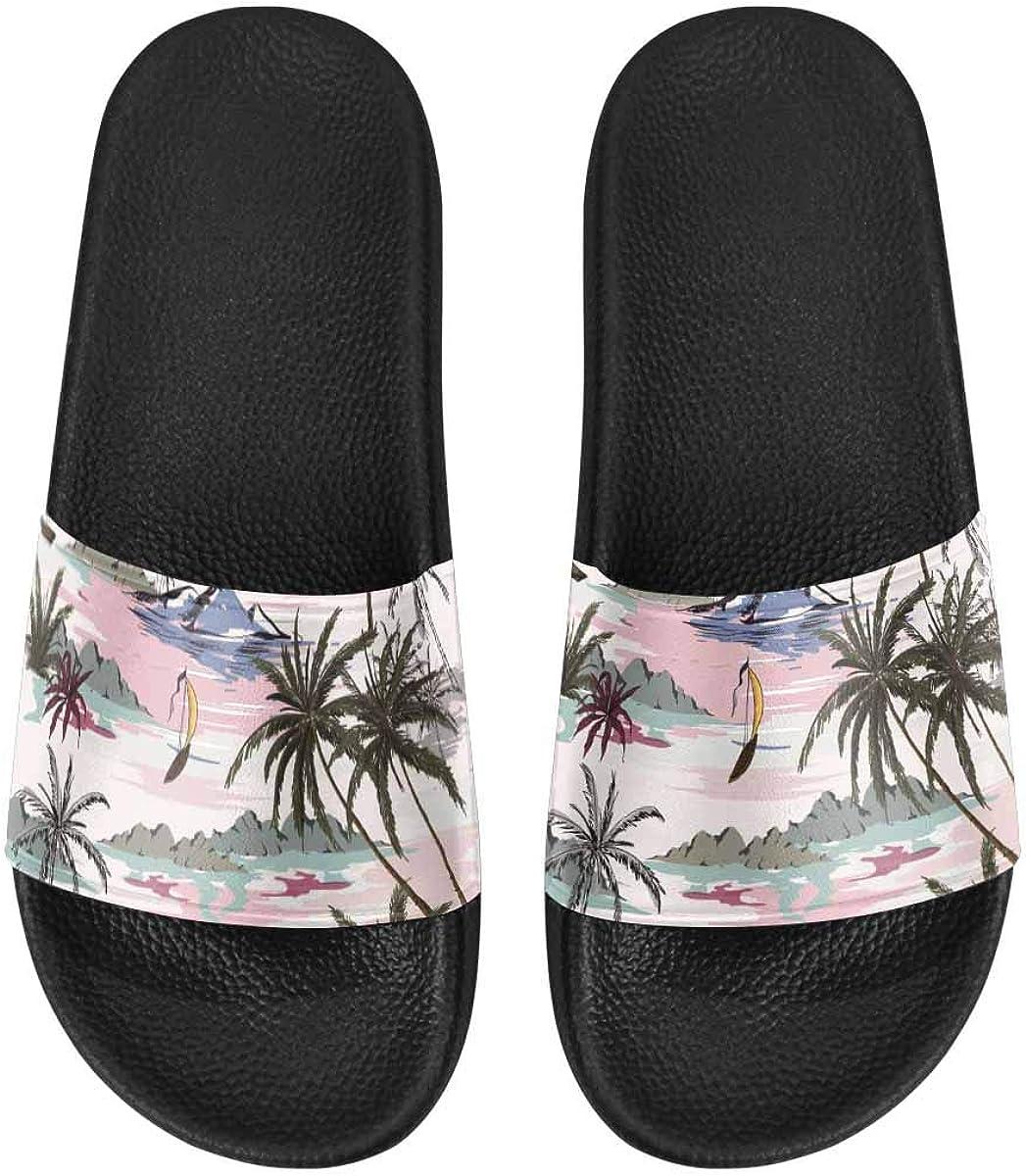 INTERESTPRINT Walking Sandals Beach Shoes for Women US6~US12 Lan