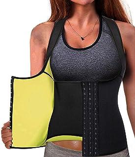 Cinturón de Entrenamiento de Neopreno para Mujer Corsé Chaleco de Sudor Pérdida de Peso Cuerpo Ajustable Shaper Workout Tank Tops