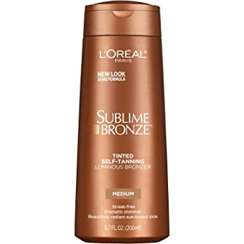 L'Oreal Paris Sublime Bronze Luminous Bronzer Self-Tanning Lotion, 6.7 oz.
