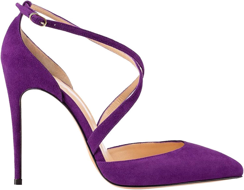 Zandina Ladies Handmade Zaltaise Suede 10cm Stiletto Pumps Office&Career Fashion Dress Party shoes