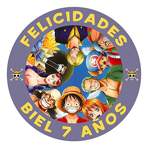 OBLEA de Papel de azúcar Personalizada, 19 cm, diseño de One Piece