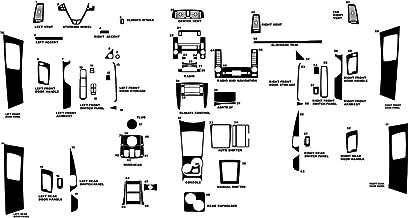 Rdash Dash Kit Decal Trim for Cadillac CTS 2003-2007 - Wood Grain (Burlwood Dark)