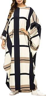 xiannu Women Jalabiya Woman Plus Size Maxi Dresses Batwing Sleeve Arabic Kaftan Beige