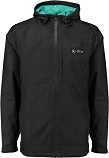 Mercedes Benz AMG Petronas Formula 1 Men`s Black Rain Jacket