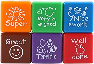 GLOGLOW Reward Stamps, Homework Correcting Accessory Cute Cartoon Self Inking Motivation Seals Teacher Encouragement Toys