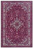 Nouristan Alfombra de diseño Oriental Azad Täbriz (160 x 230 cm, 100 % poliéster, Parte Trasera de algodón, fácil Cuidado, ribeteada, Apta para calefacción por Suelo Radiante), Color Rojo Oriental