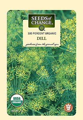 Seeds of Change 06069 Organic Dill Seeds, 5.5 x 0.01 x 3.5
