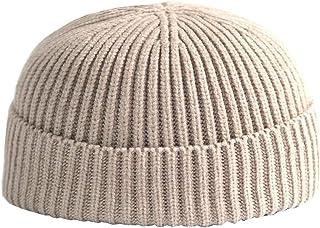 ACVIP Womens Mens Herringbone Solid Skull Beanie Hat Thermal Headwrap