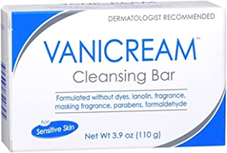 Vanicream Cleansing Bar for Sensitive Skin, 3.9 oz Per Bar (4 Bars)